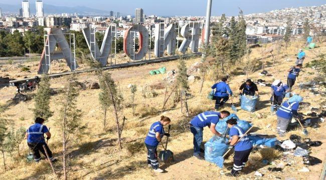 Büyükşehir, Bornova'dan temizlik seferberliği başlattı